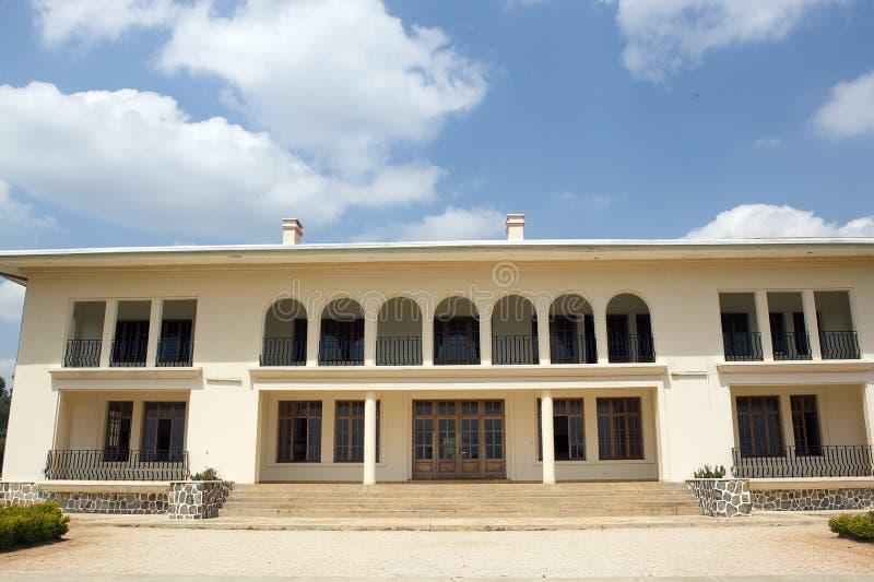 Palácio para o rei Mutara III Rudahigwa em Nyanza imagens de stock royalty free