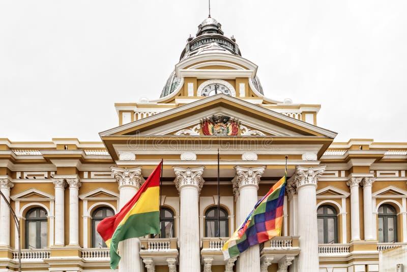 Palácio presidencial de La Paz imagens de stock