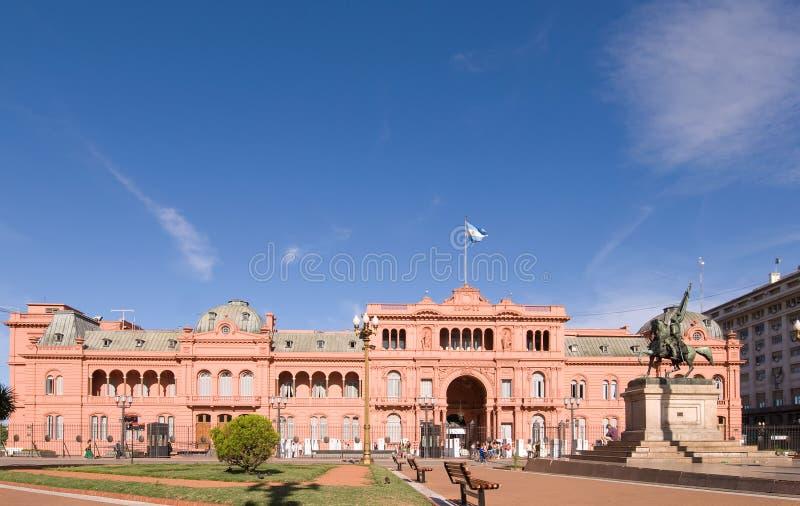 Palácio presidencial de Rosada das casas de Argentina imagens de stock