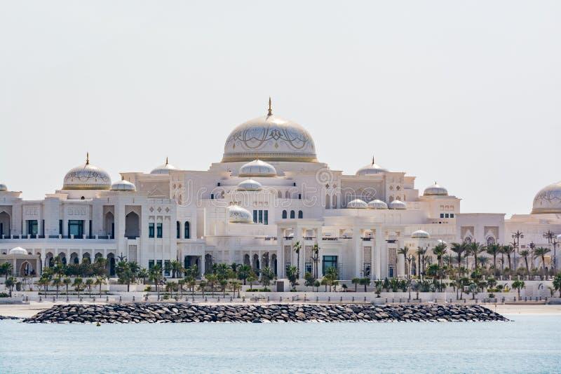 Palácio presidencial em Abu Dhabi, UAE foto de stock