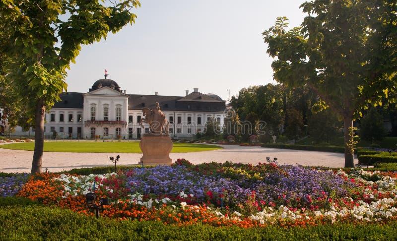 Palácio presidencial em Bratislava fotografia de stock