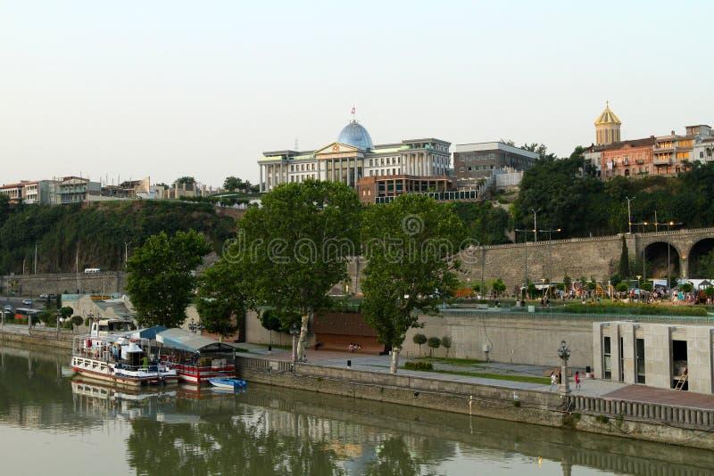 Palácio presidencial em Tbilisi, Geórgia. imagem de stock