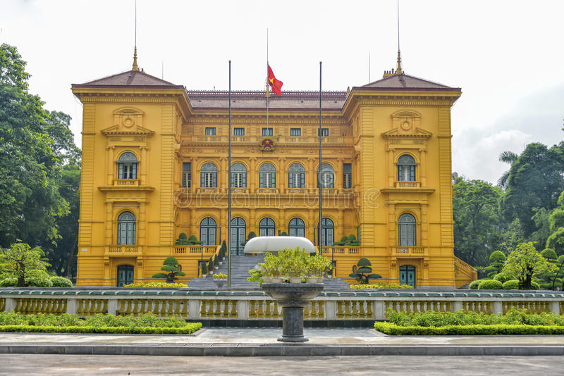 Palácio presidencial Hanoi, Vietname imagens de stock
