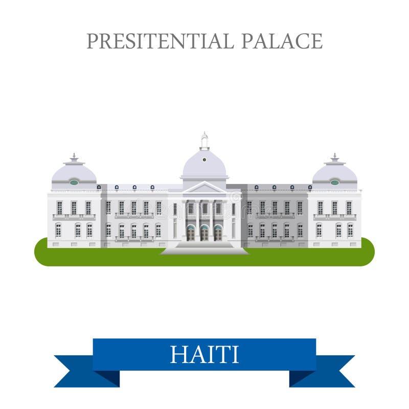 Palácio presidencial no illustrat liso do vetor de Haiti ilustração do vetor