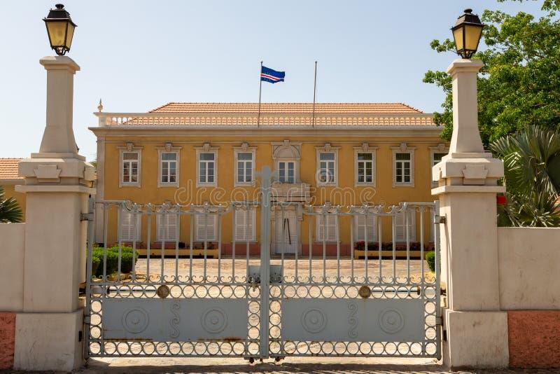Palácio presidencial no Praia, Cabo Verde imagem de stock royalty free