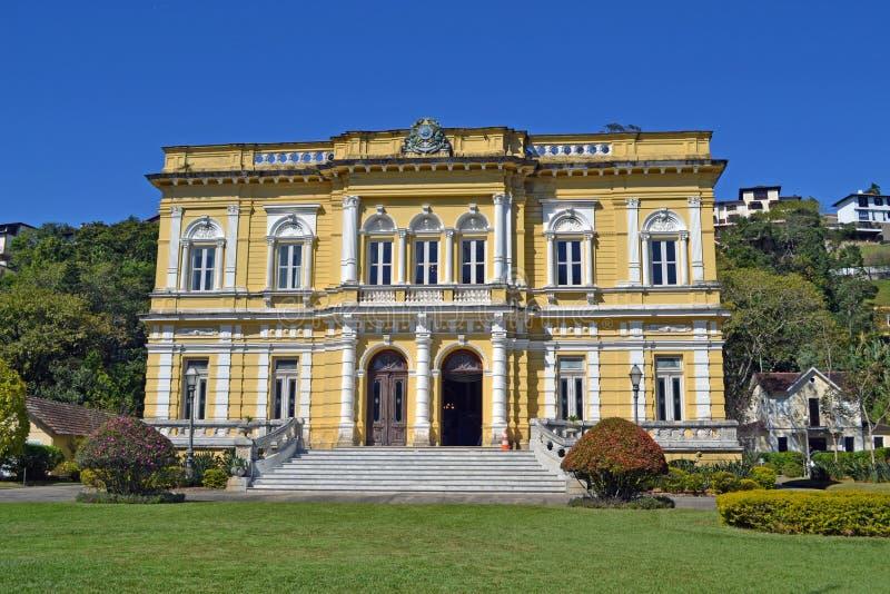 Palácio preto do rio em Petropolis, Rio de janeiro, Brasil Palácio do resto do verão para os presidentes brasileiros fotos de stock royalty free