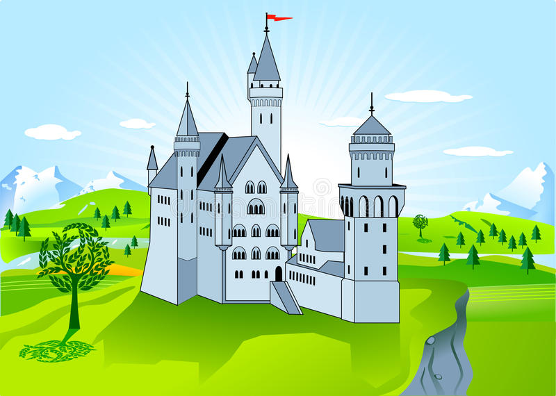 Palácio real ilustração stock