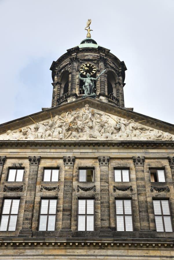 Palácio real de Amsterdão imagens de stock