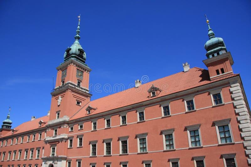 Palácio real de Varsóvia fotos de stock royalty free