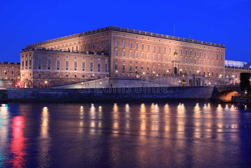 Palácio real em Éstocolmo fotografia de stock