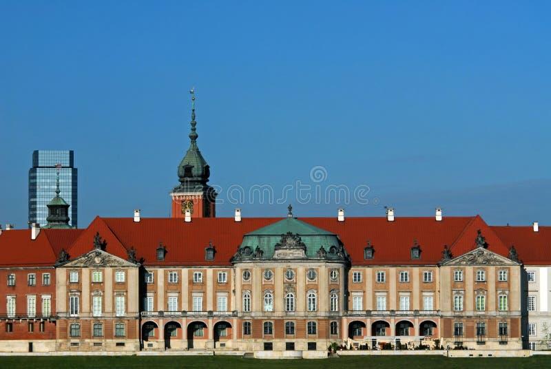 Palácio real em Varsóvia imagem de stock