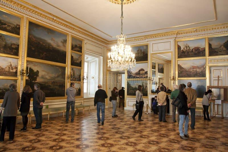 Palácio real em Varsóvia para dentro foto de stock