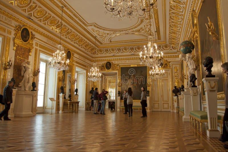Palácio real em Varsóvia para dentro fotografia de stock royalty free