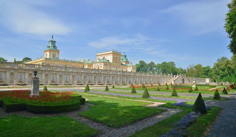 Palácio real em Wilanow imagens de stock