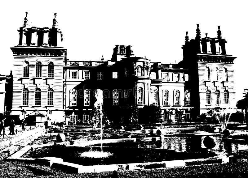 Palácio Reino Unido de Blenheim ilustração do vetor