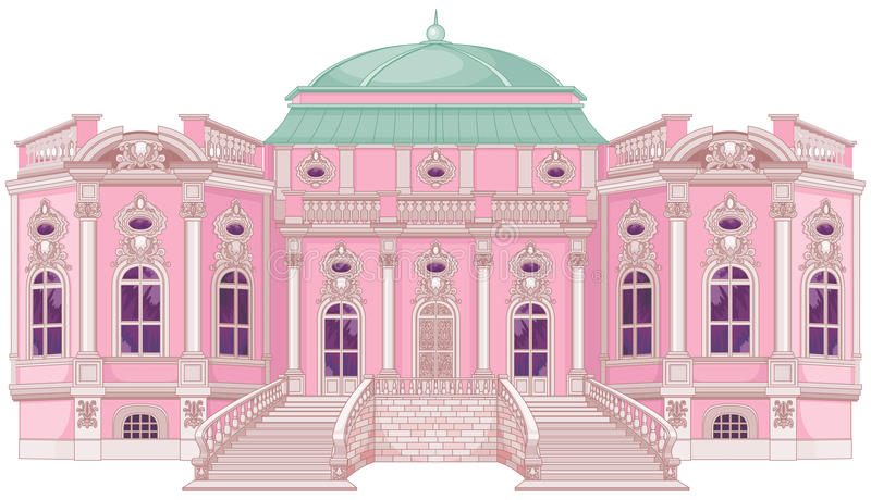 Palácio romântico para uma princesa ilustração do vetor