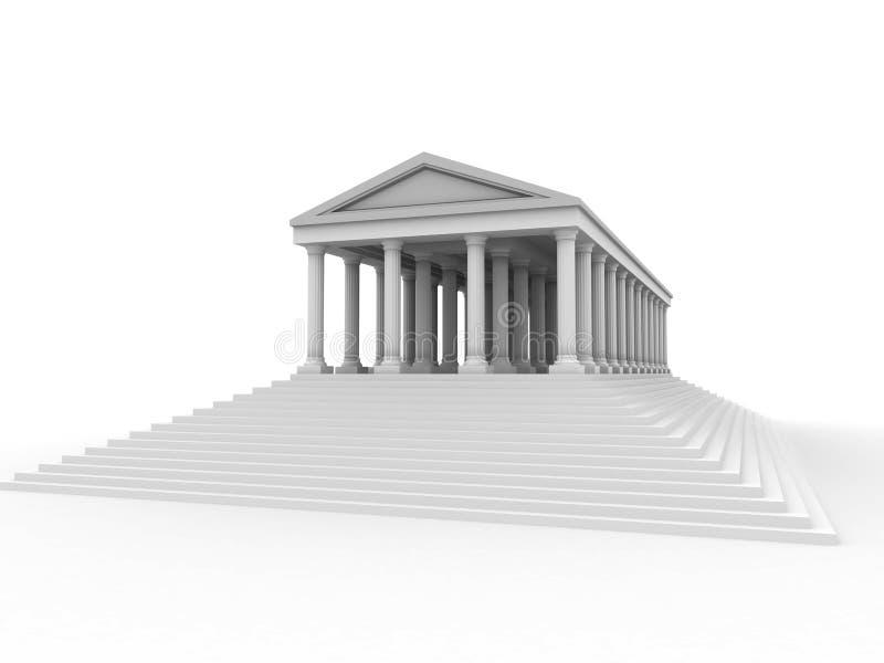 Palácio romano velho ilustração royalty free