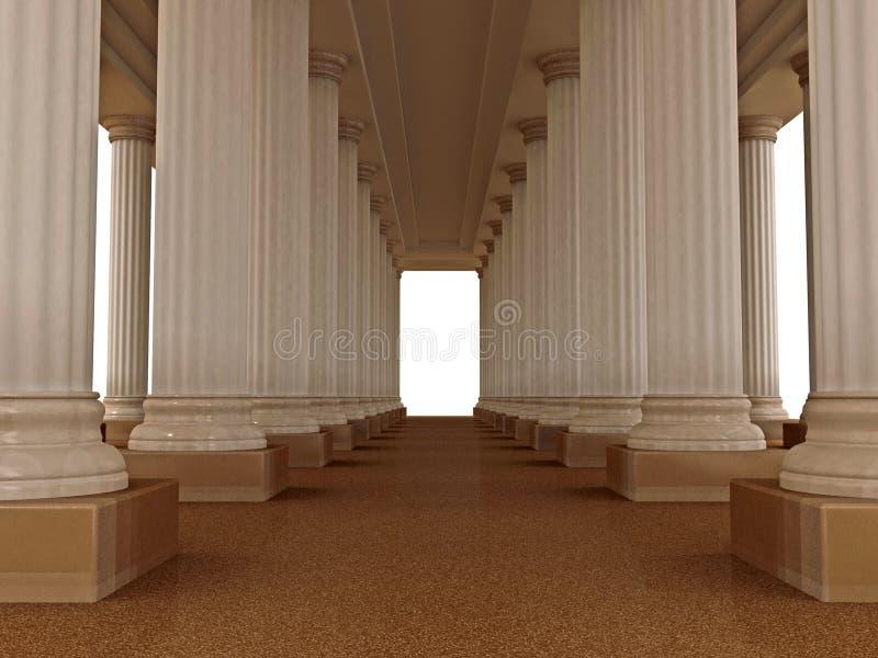 Palácio romano velho ilustração stock