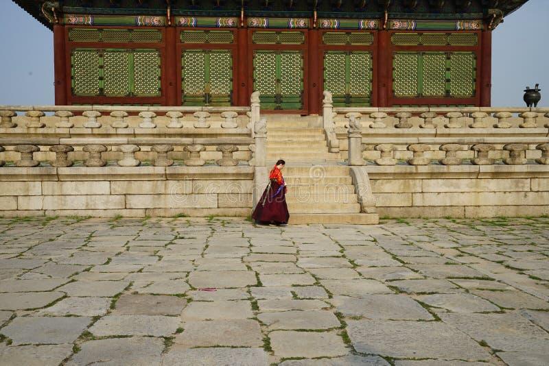 Palácio Seoul Coreia do Sul de Gyeongbokgung imagem de stock royalty free