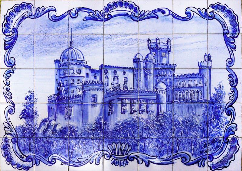 Palácio Sintra de Pena, Portugal ilustração royalty free