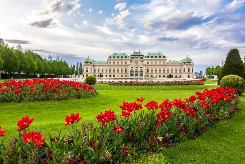 Palácio superior do Belvedere, Viena, Áustria fotografia de stock