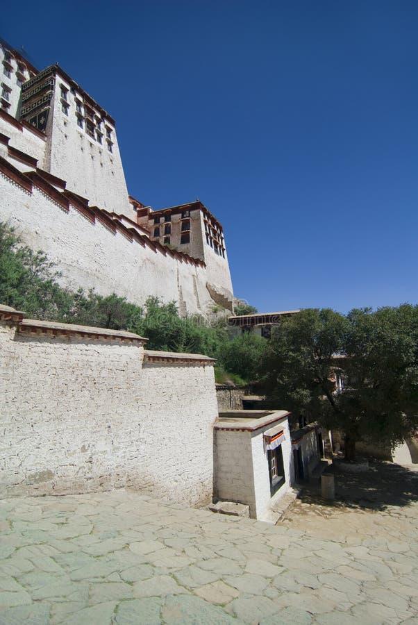 Palácio Tibet de Potala fotos de stock royalty free