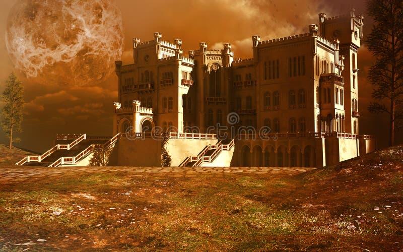 Palácio velho ilustração stock