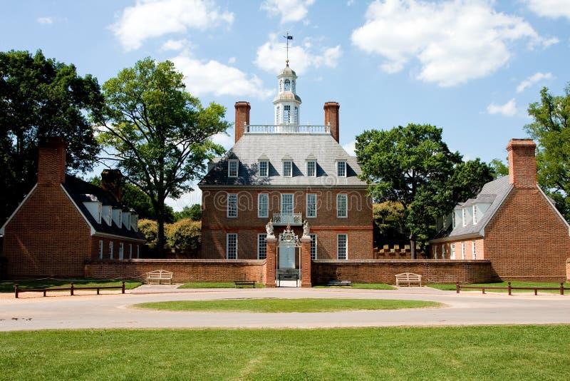 Palácio Williamsburg do regulador fotografia de stock