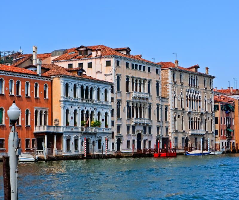 Palácios Venetian no canal grandioso fotos de stock royalty free
