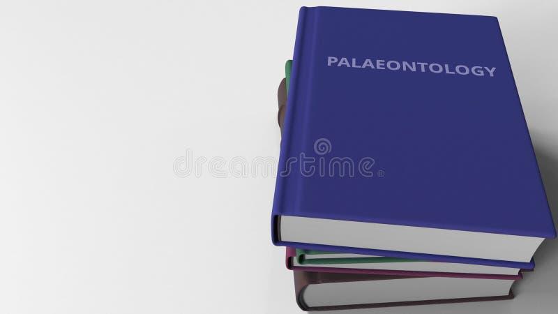 PALÄONTOLOGIE-Titel auf dem Buch, Begriffs-Wiedergabe 3D stock abbildung