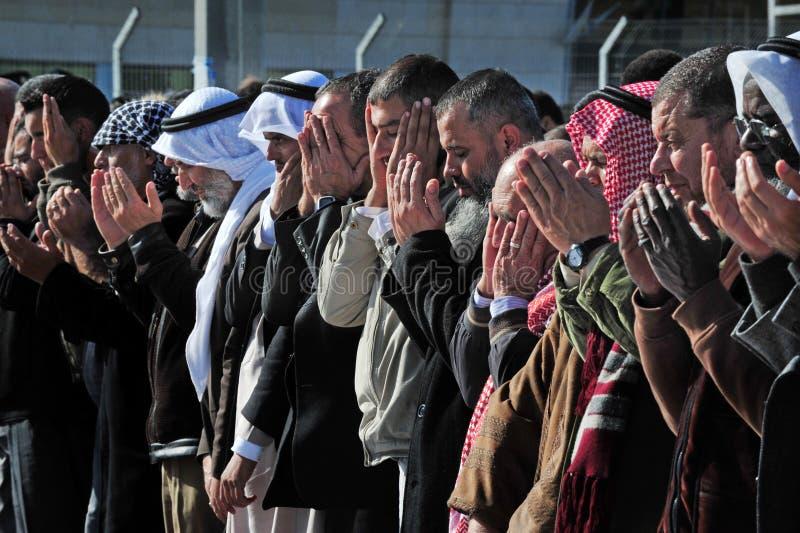 Palästinensische betende Leute stockbilder