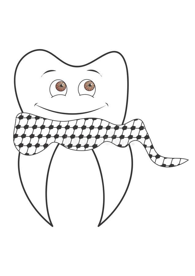 PALÄSTINENSISCHER glücklicher Zahn (pädiatrisch) lizenzfreie stockfotografie