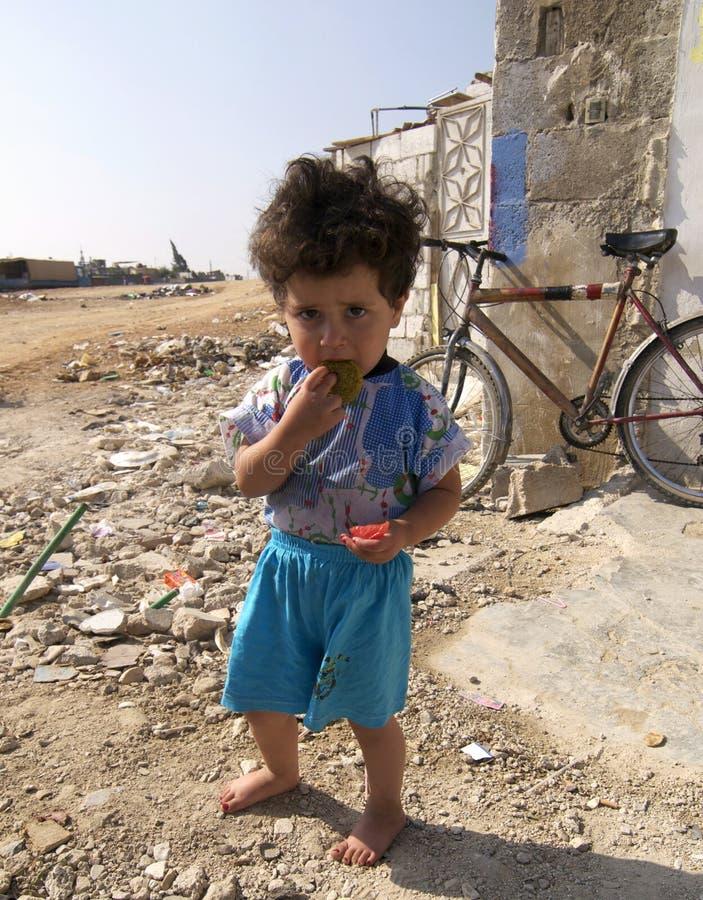 Palästinensisches Flüchtlings-Kind lizenzfreie stockbilder