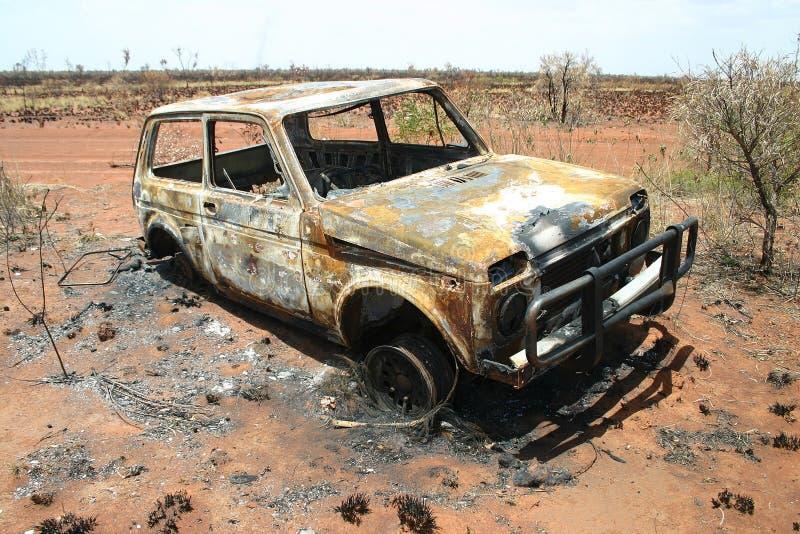 paląc samochody fotografia stock