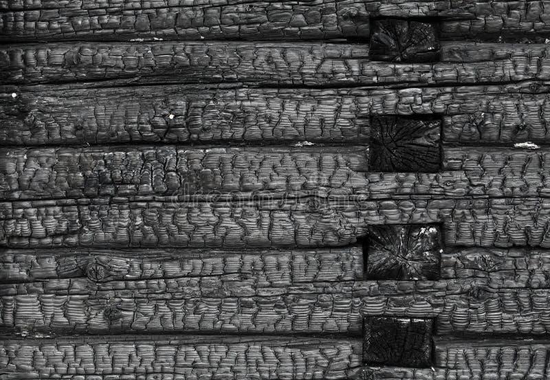 Paląca czarna drewniana ściana zdjęcie stock