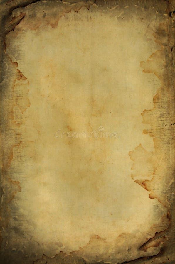 paląca grunge papieru przestrzeń mokra royalty ilustracja