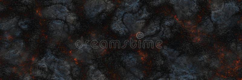 Paląca węgiel drzewny rozjarzona powierzchnia węgle Abstrakcjonistyczna natura p ilustracja wektor