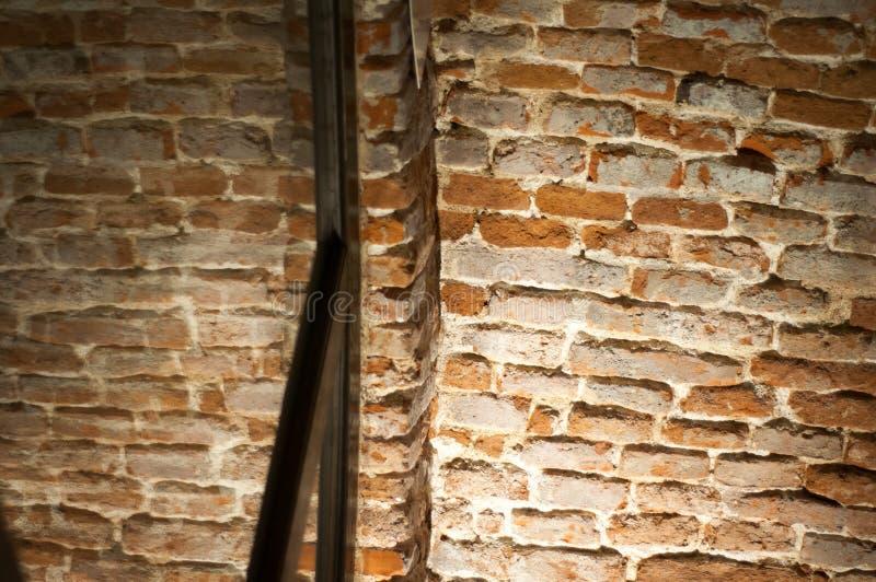 Palący ściana z cegieł fotografia stock