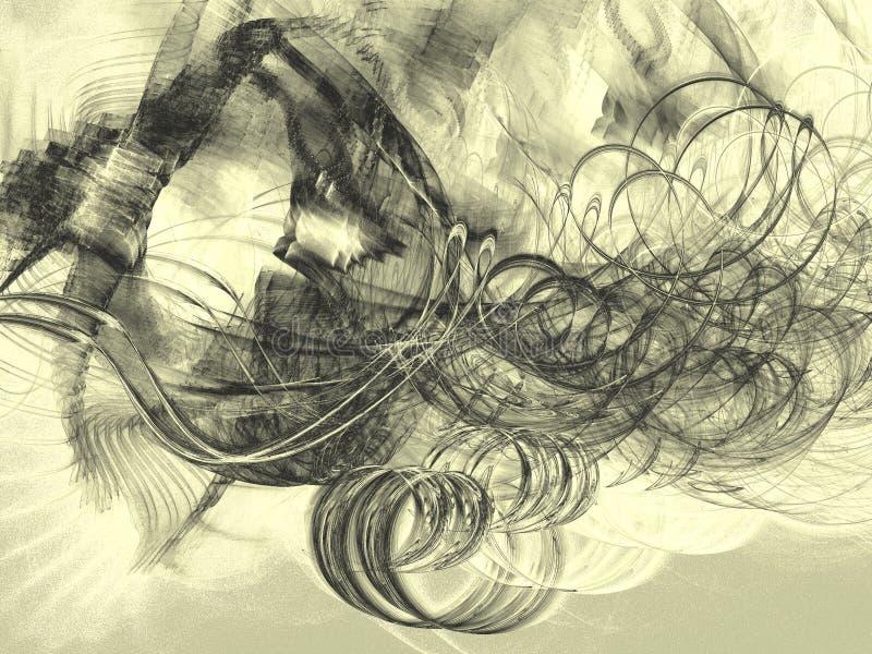 Palący wiatr ilustracja wektor