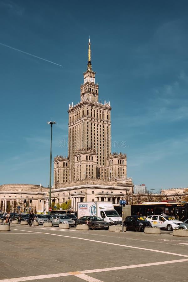 Pal?cio da cultura e da ci?ncia em Vars?via, Poland fotografia de stock royalty free