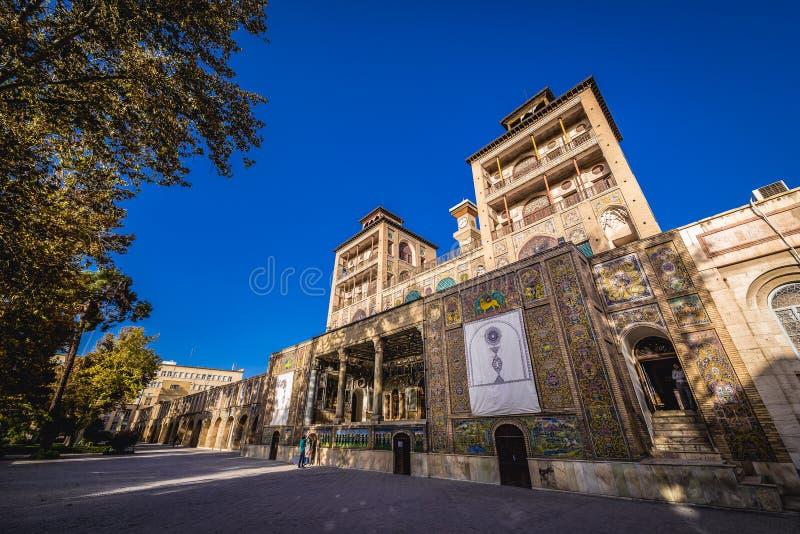 Pal?cio de Golestan em Tehran imagens de stock royalty free
