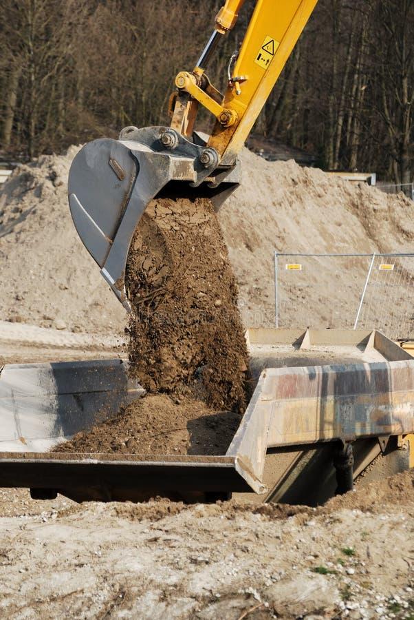 Pala dell'escavatore immagine stock