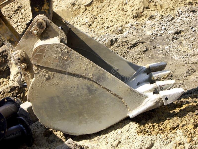 Pala dell'escavatore a cucchiaia rovescia fotografia stock libera da diritti