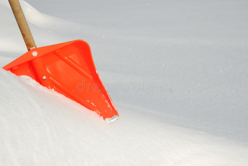 Pala della neve fotografie stock libere da diritti