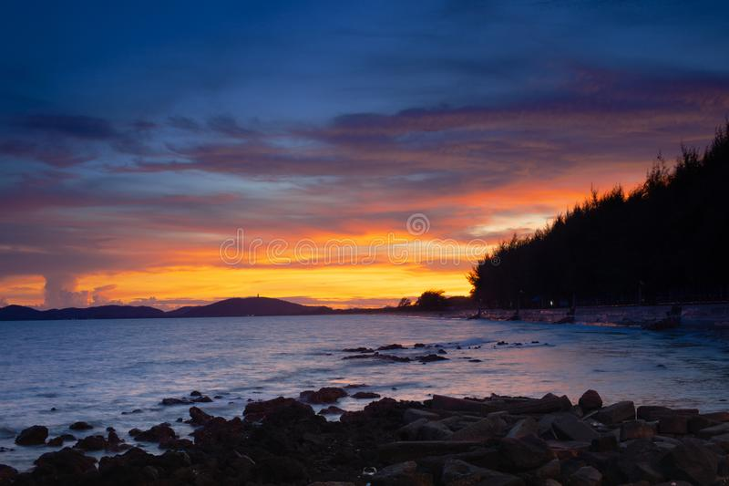 Pala-Strand wenn Sonnenuntergang stockfoto