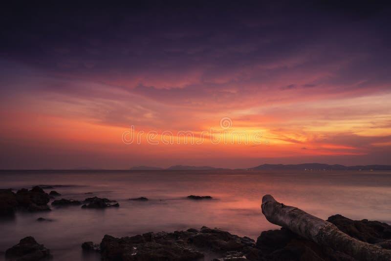 Pala-Strand wenn Sonnenuntergang lizenzfreies stockbild