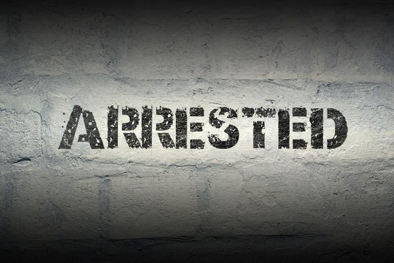 PALABRA arrestada GR imágenes de archivo libres de regalías