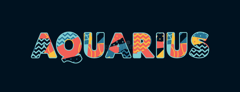 Palabra Art Illustration del concepto del acuario libre illustration