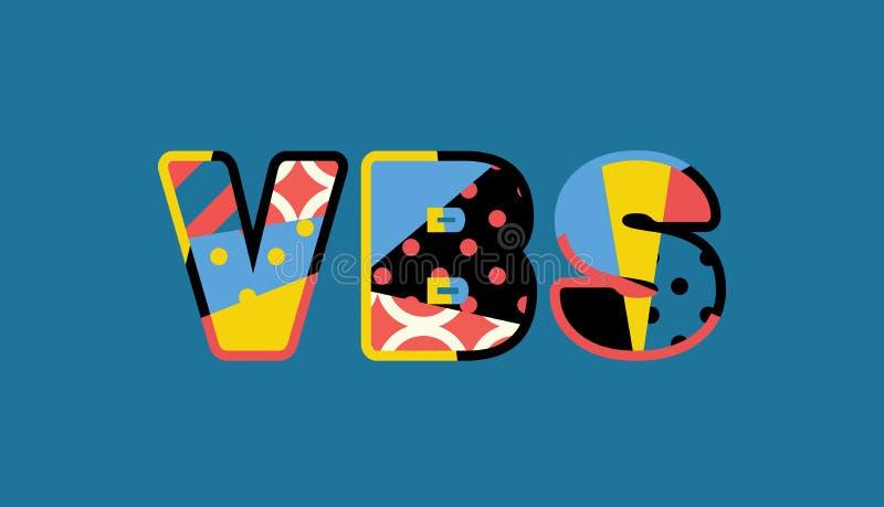 Palabra Art Illustration del concepto del VBS ilustración del vector