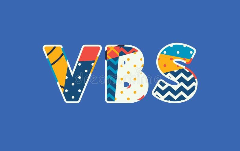 Palabra Art Illustration del concepto del VBS stock de ilustración